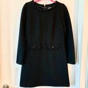 Boden Quilted Black Dress